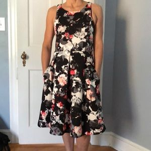 Lord & Taylor 424 Fifth Scuba Fit & Flare Dress